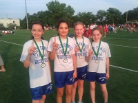 6th Grade Girls  1st Place 300M Medley