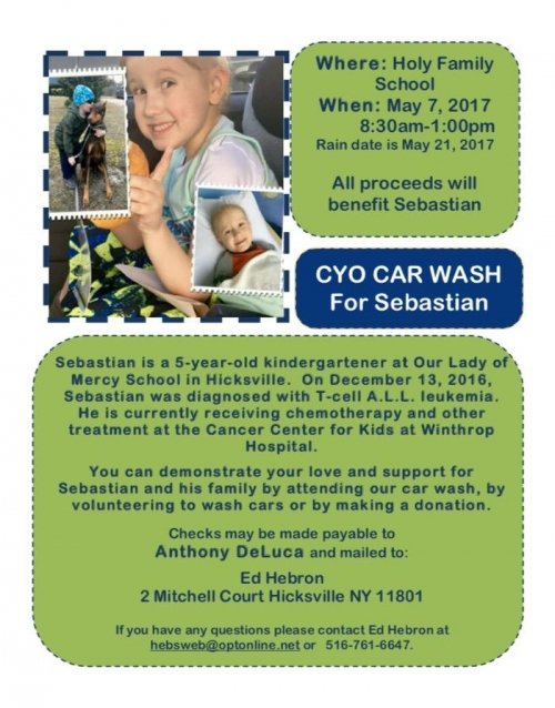 CYO CAR WASH For Sebastian